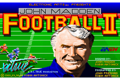 John Madden Football II (1991) MS-DOS game