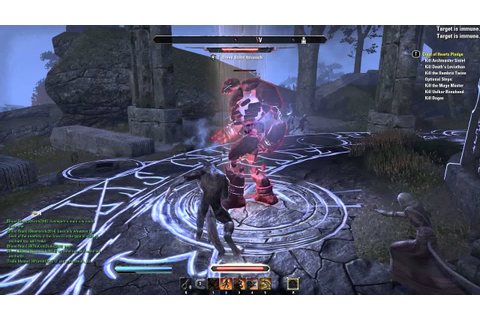 ESO Werewolf Fight video game play mmorpg - YouTube
