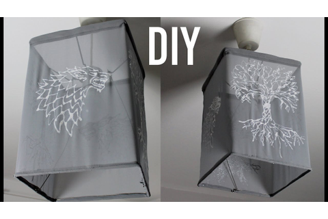 DIY Direwolf Light Shade | Game of Thrones DIY | Upcycle ...