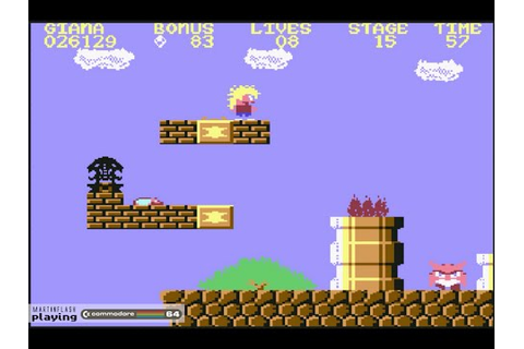 The Great Giana Sisters - Commodore 64 full game - YouTube
