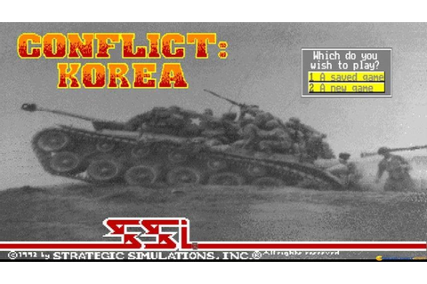 Conflict: Korea gameplay (PC Game, 1992) - YouTube