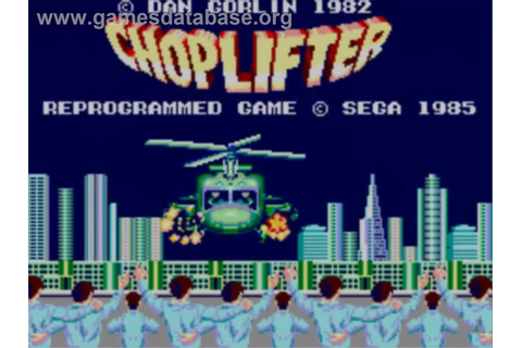 Choplifter - Sega Master System - Games Database