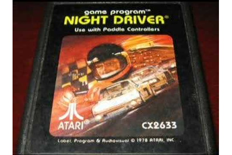 Classic Game Room - NIGHT DRIVER for Atari 2600 review ...