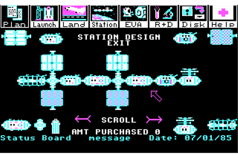 Project: Space Station Screenshots for DOS - MobyGames