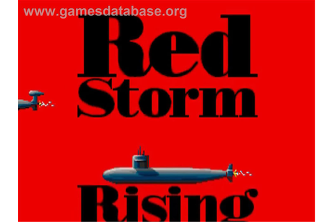 Red Storm Rising - Commodore Amiga - Games Database