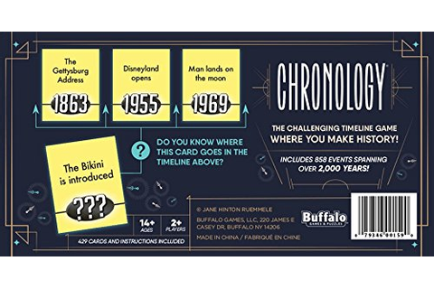 CHRONOLOGY BOARD GAME by Buffalo Games - The Game of All ...