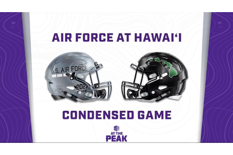 CONDENSED GAME: Air Force Falcons at Hawaii Rainbow ...
