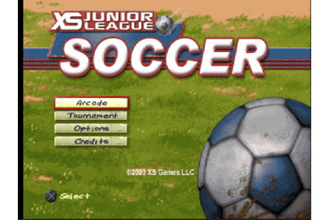 Play XS Junior League Soccer Sony PlayStation online ...