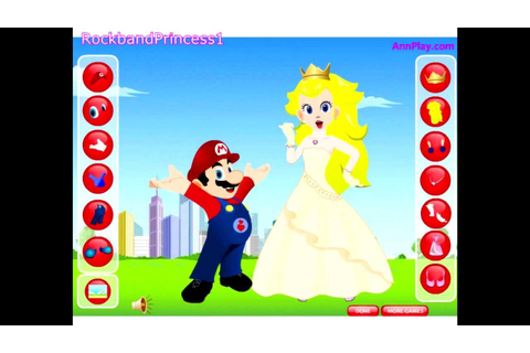 Super Mario Cartoon Game - Princess Peach And Mario Dress ...