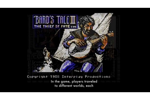 "The Art of Video Games: ""The Bards Tale III: Thief of Fate ..."
