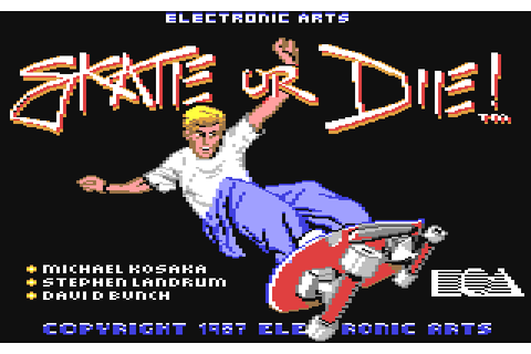Game: Skate or Die [Commodore 64, 1987, Electronic Arts ...