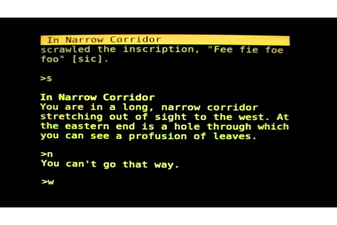 Colossal Cave Adventure play-through - YouTube