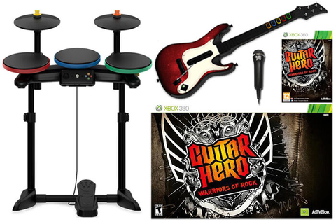 XBox 360 Guitar Hero WARRIORS OF ROCK Super Bundle Set kit ...