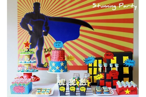 41 Superhero Birthday Party Supplies, Games, Decorations ...
