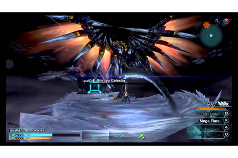 FINAL FANTASY TYPE-0 HD Ps4 Bahamut Summon Gameplay - YouTube