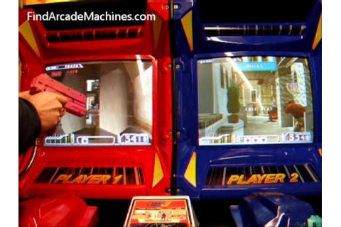 Time Crisis 2 Twin Shooter Arcade Machine in Play - YouTube