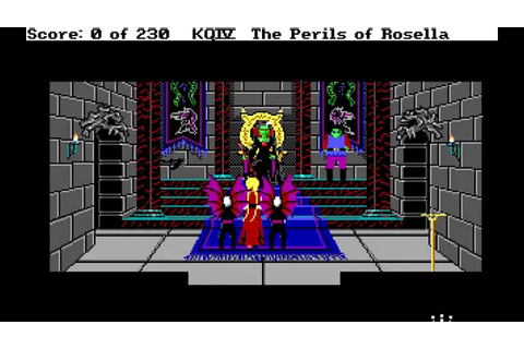 DOS Game: King's Quest IV - The Perils of Rosella - YouTube