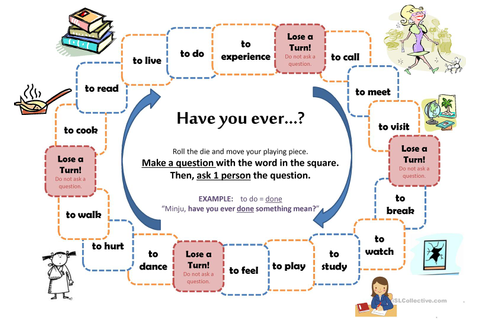 """Have You Ever..."" board game - English ESL Powerpoints ..."