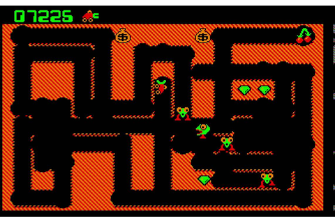 Digger - Classic DOS PC Game (1983) - Level 1 to 5 - YouTube
