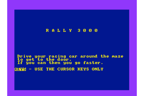 Rally 3000 (Amstrad Cassette 50 Game 26)