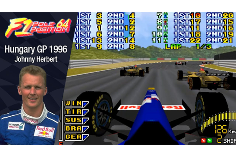 F1 Pole Position N64 - Johnny Herbert (Sauber) Hungary GP ...