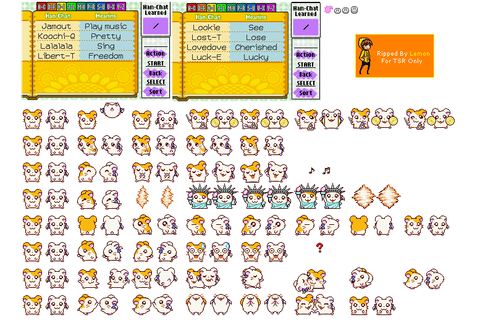 The Spriters Resource - Full Sheet View - Hamtaro: Ham-Ham ...