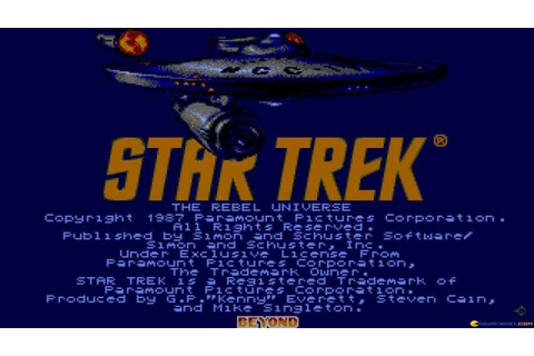 Star Trek - The Rebel Universe gameplay (PC Game, 1987 ...