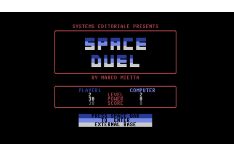 "C64: ""Space Duel"" Games - YouTube"