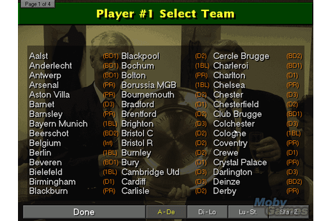 Championship Manager: Season 97/98 on Qwant Games