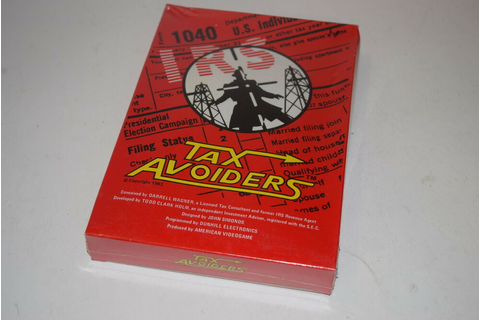 TAX AVOIDERS Atari 2600 Video Game NEW In BOX American ...