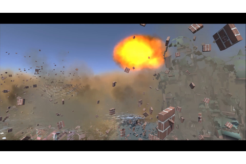 Nuclear explosion in city Unity 5 - YouTube