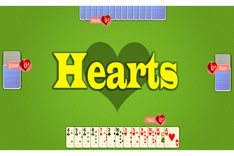 Play Hearts Online • Play Free Hearts Game Online