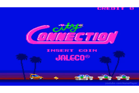 City Connection 1985 Jaleco Mame Retro Arcade Games - YouTube