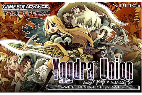 Yggdra Union: We'll Never Fight Alone (2006) by Sting GBA game