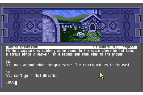 Arthur: The Quest for Excalibur (1989) by Infocom MS-DOS game