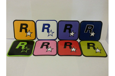 8 + 2 Brand New RockStar Games Sticker Decal Grand Theft ...