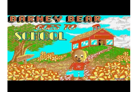 Barney Bear Goes to School gameplay (PC Game, 1991) - YouTube