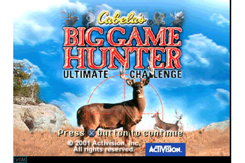 Cabela's Big Game Hunter - Ultimate Challenge for Sony ...