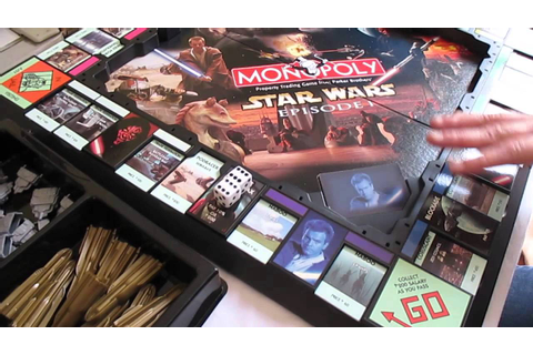 Star Wars Episode 1 Phantom Menace Monopoly - YouTube