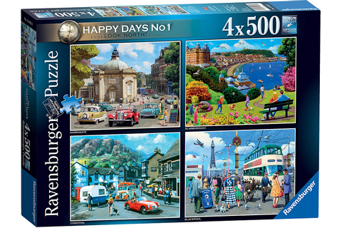 Happy Days Up North - Ravensburger 4 x 500 Piece Puzzles ...