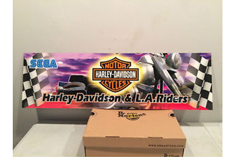 HARLEY DAVIDSON L.A. RIDERS Arcade Game by SEGA Sign ...