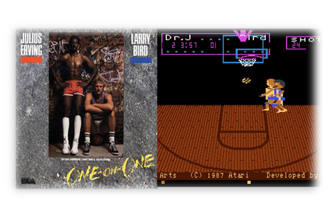 One On One: Dr. J vs. Larry Bird (Atari 7800/1987) - Das ...