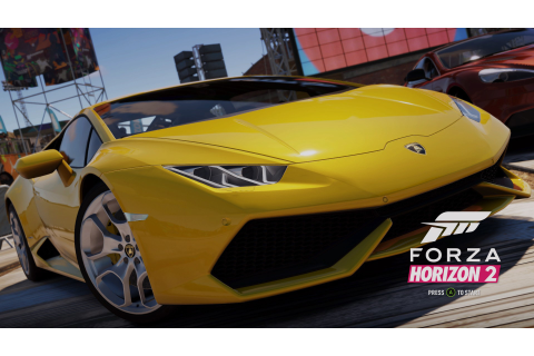 Forza Horizon 2, Lamborghini Huracan, Video Games, Yellow ...
