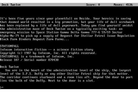 Download Stationfall adventure for DOS (1987 ...