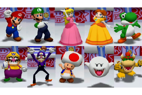 Mario Party 6 - All Characters - YouTube
