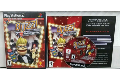 Buzz The Hollywood Quiz Game CIB w/ Manual PlayStation 2 ...