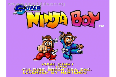 Super Ninja Boy - Nintendo SNES - Games Database