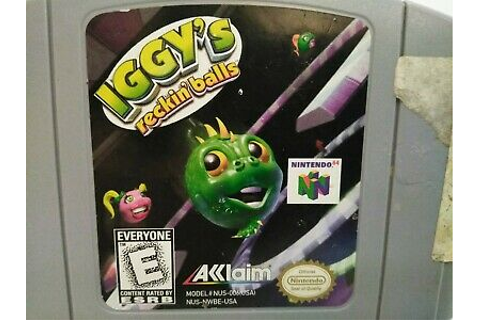 Iggy's Reckin' Balls Nintendo 64 N64 Game Cart Only ...