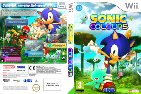 Games Covers: Sonic Colours - Wii