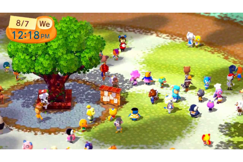 First Look - Animal Crossing Plaza on Wii U - YouTube
